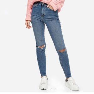 TOPSHOP Jamie High Rise Skinny Jeans!